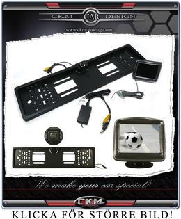 Backkamera med skylthållare och monitor!