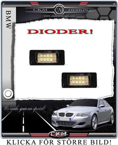Nummerskyltbelysning DIODER LED 2st